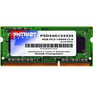 Фото модуля памяти Patriot SoDIMM 4096M DDR3 1333 MHz Patriot, retail — PSD34G13332S