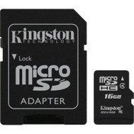 Фото карты памяти Kingston SDHC Class4 16GB + SD адаптер - SDC4/16GB