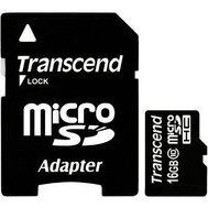 Фото карты памяти Transcend SDHC Class 10 16GB + SD адаптер - TS16GUSDHC10