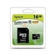 Фото карты памяти Apacer UHS-1 microSDHC Class10 16GB + SD адаптер - AP16GMCSH10U1-R