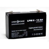 Фотография 1 аккумулятора  Свинцово-кислотный аккумулятор LogicPower LPM 6-12 AH
