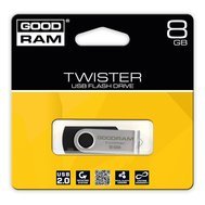 Фотографія 1 USB флешки USB флешка GoodRam Twister Black 8GB USB 2.0 - UTS2-0080K0R11 складаний ніж