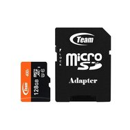 Фото карты памяти Team MicroSDXC 128GB UHS-I Class 10 Team + SD-adapter — TUSDX128GUHS03