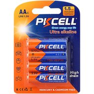 Фото батарейки Pkcell 1.5V AA/LR6, 4 шт. (блистер)