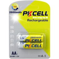 Фото батарейки Pkcell 1.2V AA 2600mAh NiMH Rechargeable Battery, 2 шт.