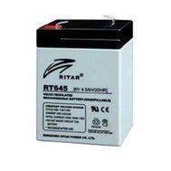 Фотография 1 аккумулятора Свинцово-кислотный аккумулятор AGM Ritar RT640, 6V 4.0Ah