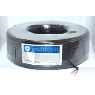 Фото электрического кабеля Multicom 3*0.2, CCA, Black, 100 м.