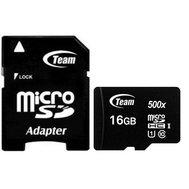 Фото карты памяти Team MicroSDHC 16GB Class 10 + SD-adapter — TUSDH16GCL10U03