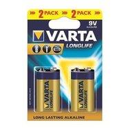Фото батарейки Varta Longlife Krona/6LR61 BL 2шт