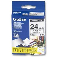 Фото товара Лента Brother 24mm*8m laminated, Black-on-White - TZE251