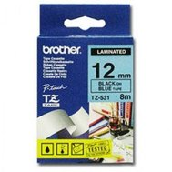 Фото товара Лента Brother - 12mm*8m laminated, Black-on-Blue - TZE531
