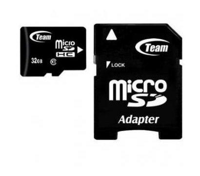 Фото карты памяти Team SDHC Class 10 32GB + adapter - TUSDH32GCL1003