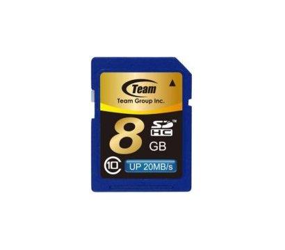 Фото карты памяти Team SDHC Class 10 8GB - TSDHC8GCL1001