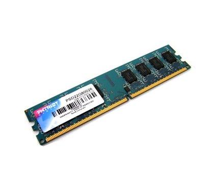 Фото модуля памяти Patriot DDR2 2048M 800MHz Patriot, retail — PSD22G80026