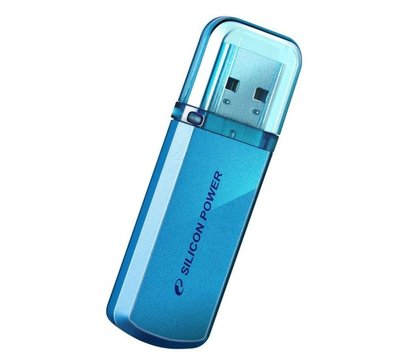 Фото USB флешки Silicon Power Helios 101 Blue 8GB USB2.0 — SP008GBUF2101V1B