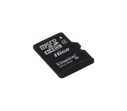 Фото карты памяти Kingston microSDHC Class 4 16GB - SDC4/16GBSP
