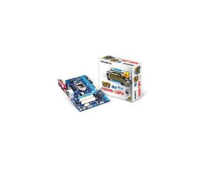 Фото материнской платы Gigabyte GA-H61M-S2PV (1155, Intel H61, PCI-Ex16)
