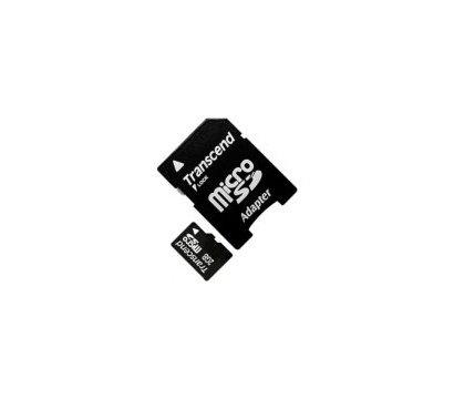 Фото карты памяти Transcend microSDHC 2GB + SD адаптер - TS2GUSD