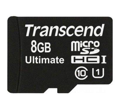 Фото карты памяти Transcend Ultimate microSDHC Class 10 8GB - TS8GUSDHC10U1