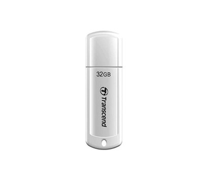Фото USB флешки Transcend JetFlash 370 White 32GB USB2.0 — TS32GJF370