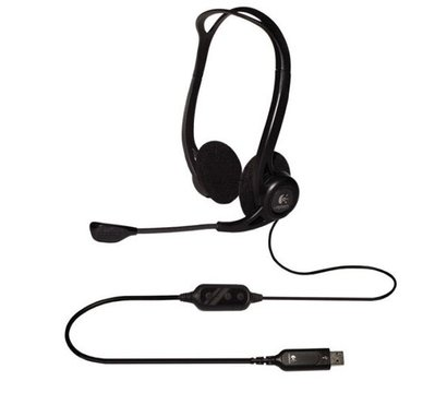 Фото наушника Logitech  Stereo Headset USB OEM PC 960 — 981-000100
