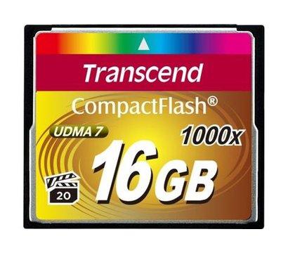 Фото карты памяти Transcend CompactFlash 1000x 16GB - TS16GCF1000