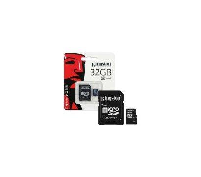 Фото карты памяти Kingston SDHC Class 4 32 GB + SD-adapter - SDC4/32GB