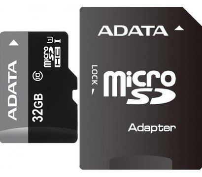 Фото карты памяти A-Data microSD Class 10 32GB with adapter - AUSDH32GUICL10-RA1