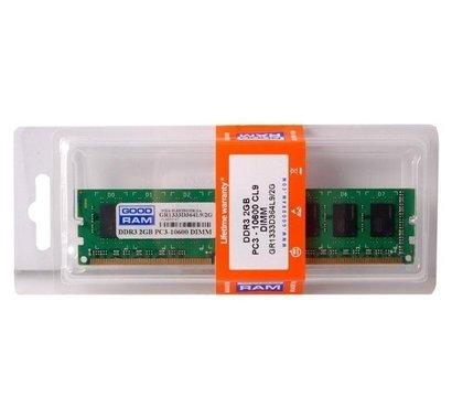 Фото модуля памяти Goodram DDR3 2048M 1333MHz Goodram, Retail — GR1333D364L9/2G