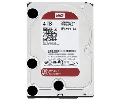 Фото жесткого диска Western Digital Caviar Red 4TB 5400-7200rpm 64MB Buffer 3.5 SATA III — WD40EFRX