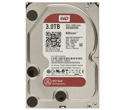 Фото жесткого диска Western Digital Caviar Red 3TB 7200rpm 64MB Buffer 3.5 SATA III — WD30EFRX
