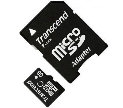 Фото карты памяти Transcend SDHC Class 10 4GB + SD адаптер - TS4GUSDHC10