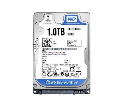 Фото жесткого диска Western Digital Caviar Blue 1TB 5400rpm 8MB Buffer 2.5 SATA III — WD10JPVX