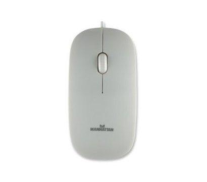 Фото 2 Мышь Intracom Manhattan Silhouette Optical Mouse USB White — 177627