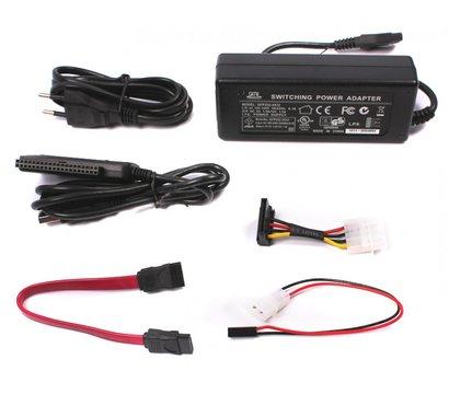 Фото №1 товара Переходник-адаптер Viewcon VE158 с USB2.0 на IDE/SATA с БП