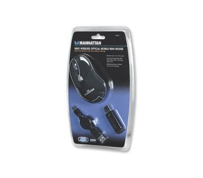 Фото 6 Мышь Intracom Manhattan MMX Wireless Optical Mobile Mini Mouse USB Black — 176811