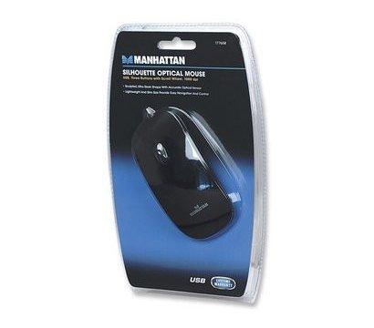 Фото №5 компьютерной мышки Intracom Manhattan Silhouette Optical Mouse USB Black — 177658