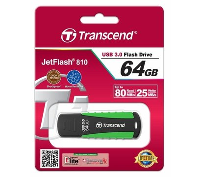 Фото №1 USB флешки Transcend JetFlash 810 64GB Rugged USB3.0 — TS64GJF810