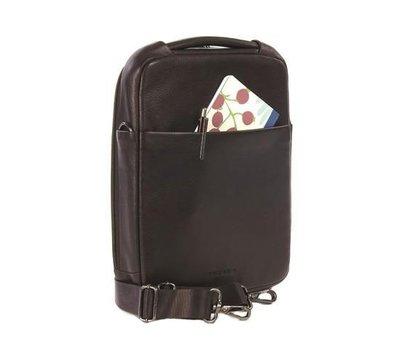Фото №1 аксессуара Сумка для ноутбука/планшета Tucano One Premium shoulder bag 10` Brown — BOPXS-M