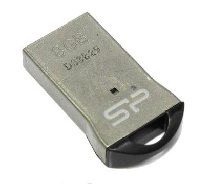 Фото №2 USB флешки Silicon Power Touch T01 Silver 8GB USB2.0 — SP008GBUF2T01V1K