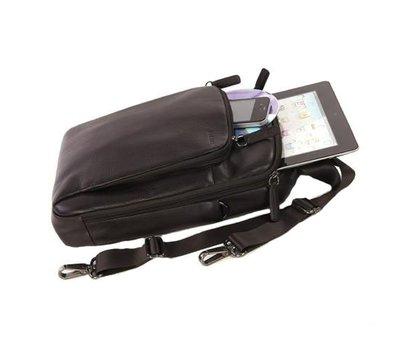 Фото №2 аксессуара Сумка для ноутбука/планшета Tucano One Premium shoulder bag 10` Brown — BOPXS-M