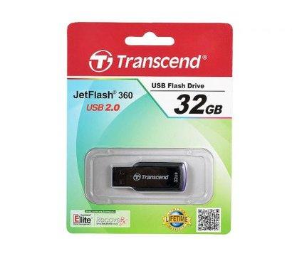Фото №2 USB флешки Transcend JetFlash 360 Black/Purple 32GB USB2.0 — TS32GJF360