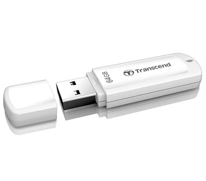 Фото №2 USB флешки Transcend JetFlash 370 White 64GB USB2.0 — TS64GJF370