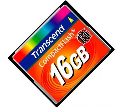 Фото №1 карты памяти Transcend CompactFlash 133x 16GB - TS16GCF133