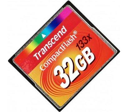 Фото №1 карты памяти Transcend CompactFlash 133x 32GB - TS32GCF133
