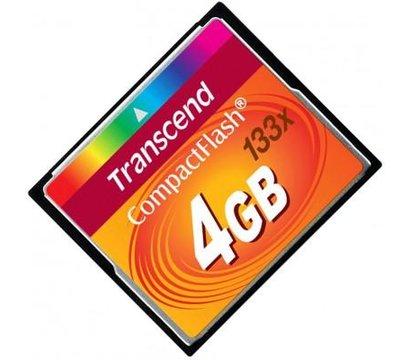 Фото №1 карты памяти Transcend CompactFlash 133x 4GB - TS4GCF133