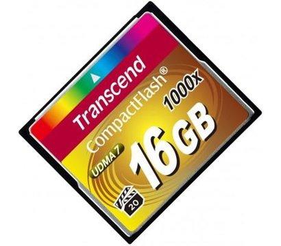 Фото №1 карты памяти Transcend CompactFlash 1000x 16GB - TS16GCF1000