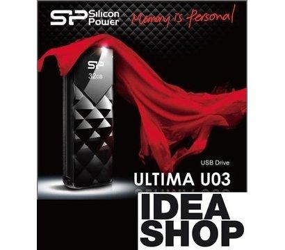 Фото №1 USB флешки Silicon Power Ultima U03 Black 32GB USB 2.0 - SP032GBUF2U03V1K