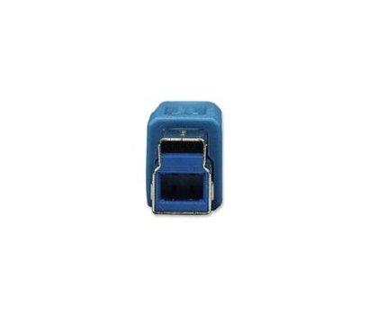 Фото №1 товара Кабель USB 3.0 Intracom Manhattan AM-BM 2.0m Blue, box — 391863