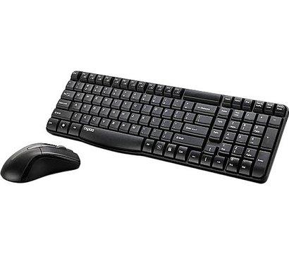Фото №1 комплекта мышь+клавиатура Rapoo Wireless Optical Combo X1800 Black